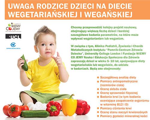 Bezplatne Badanie Dla Dzieci Na Diecie Wegetarianskiej I Weganskiej
