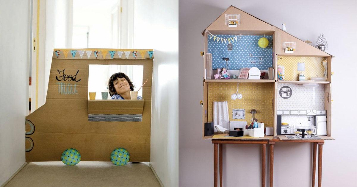 10 pomysłów na rewelacyjne zabawki z kartonów -> Kuchnia Dla Dziecka Z Kartonu