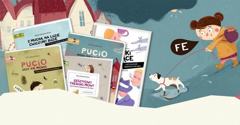 Pucio – bohater serii książek pełnych zabaw logopedycznych dla najmłodszych