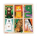 Janod Puzzle sensoryczne drewniane Zwierzątka w ZOO