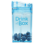 DRINK IN THE BOX Bidon ze słomką blue 240ml