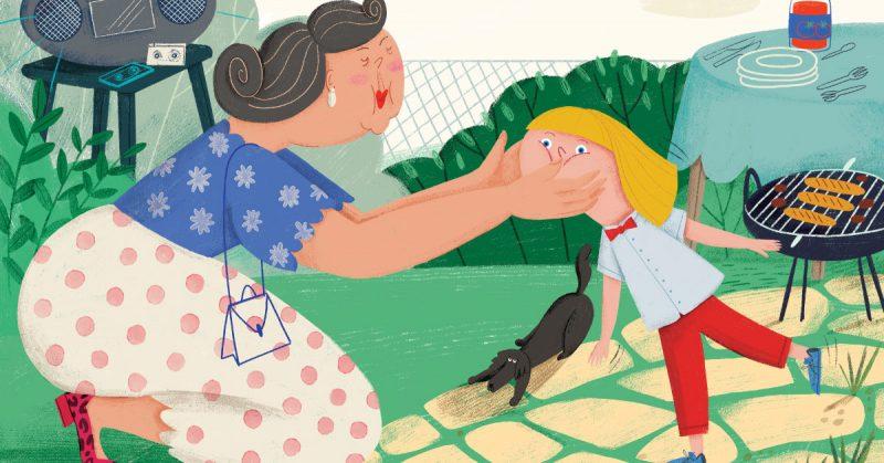 """""""Pocałuj ciocię!"""" – Łobuz mówi nie. Książka dla dzieci o stawianiu granic."""